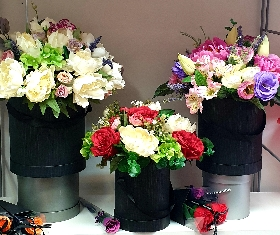 Artificial flower boxes